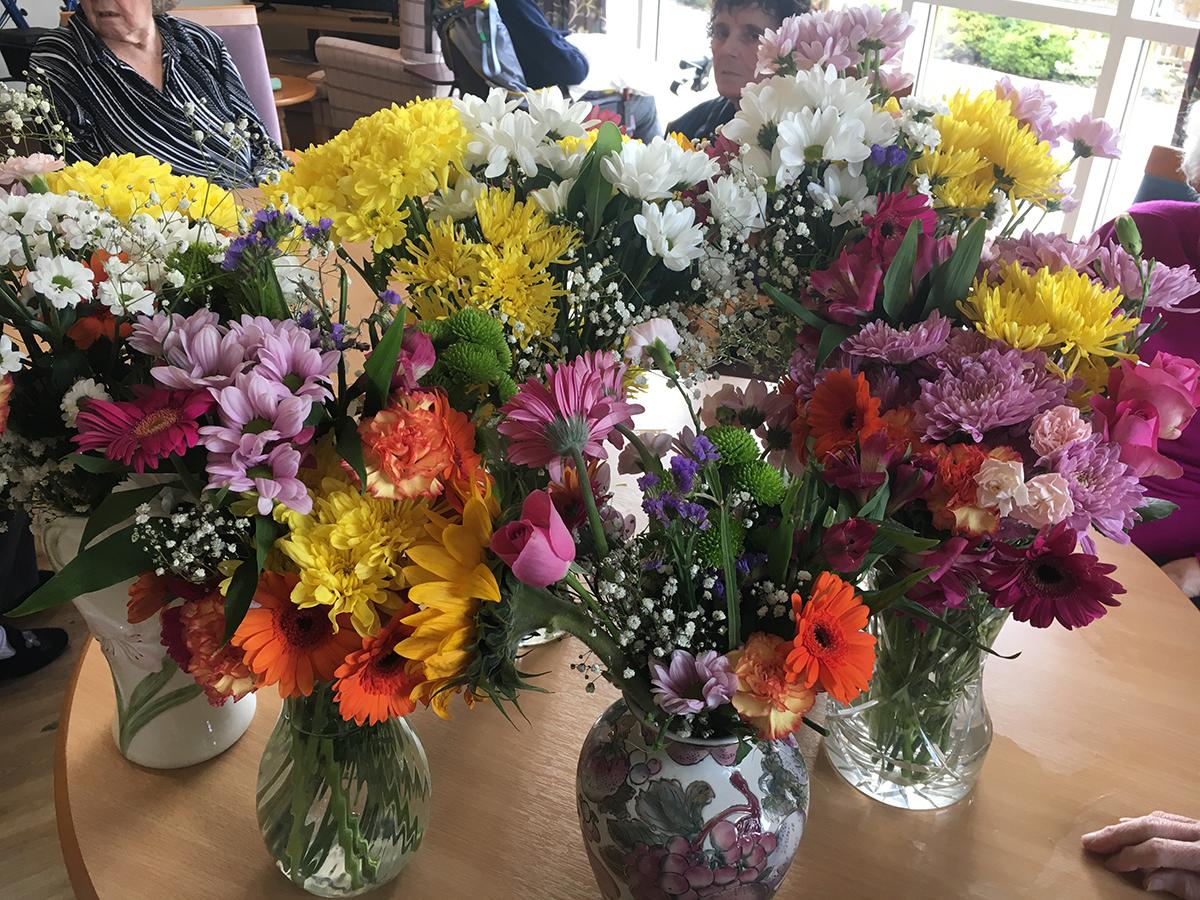 Flower Girls Springhill Care Home