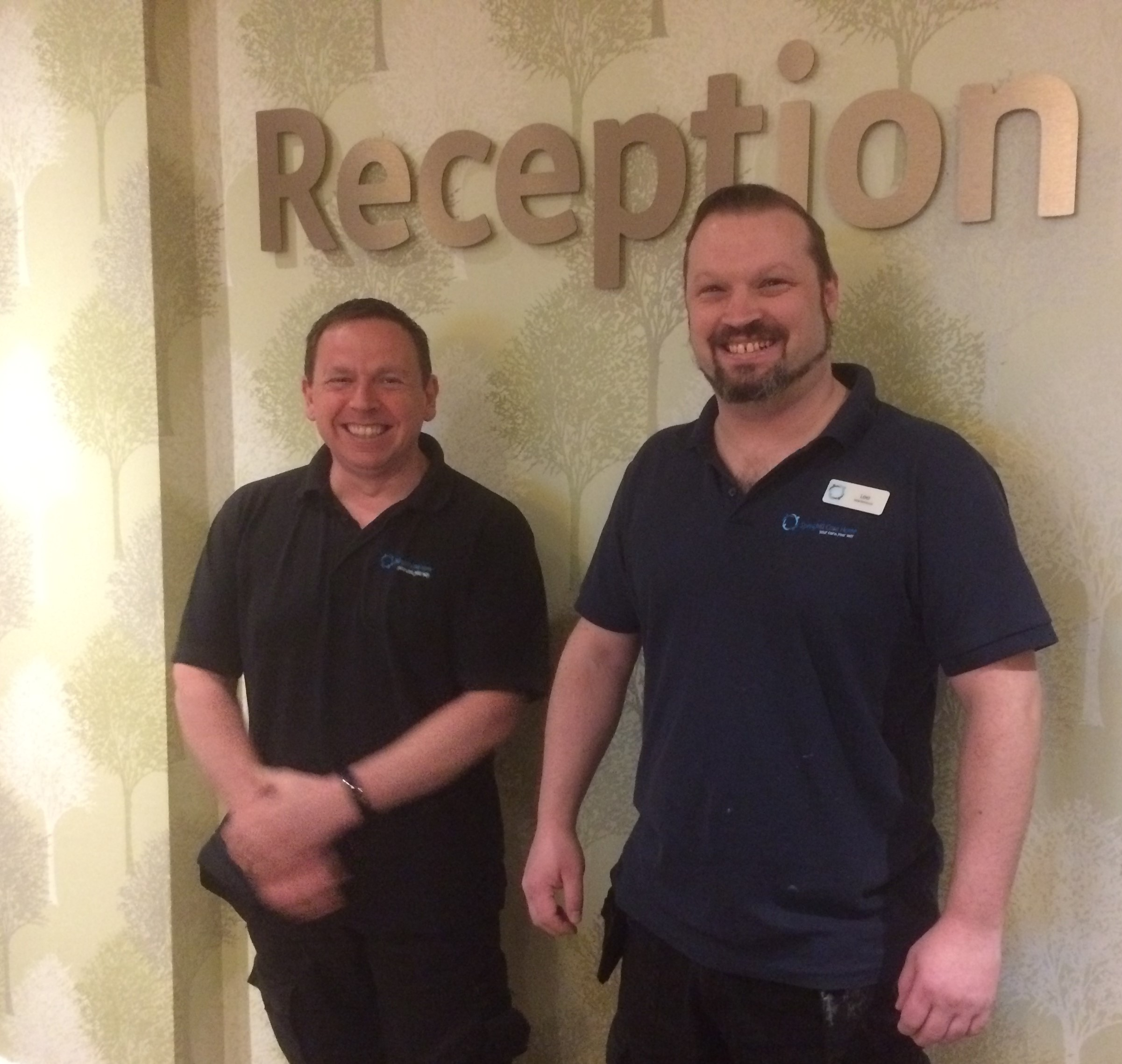 Stephen and Lee at Springhill Care Home